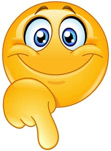 Smiling emoticon pointing down